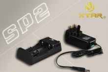 Xtar SP2 UK Plugged 220VAC/12VDC Twin Channel Charging Unit